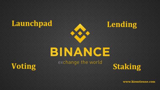 Cách sử dụng Binance Launchpad, Binance Lending, Binance Vote