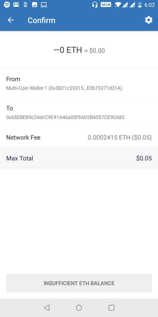 xác thực giao dịch ví Trust Wallet