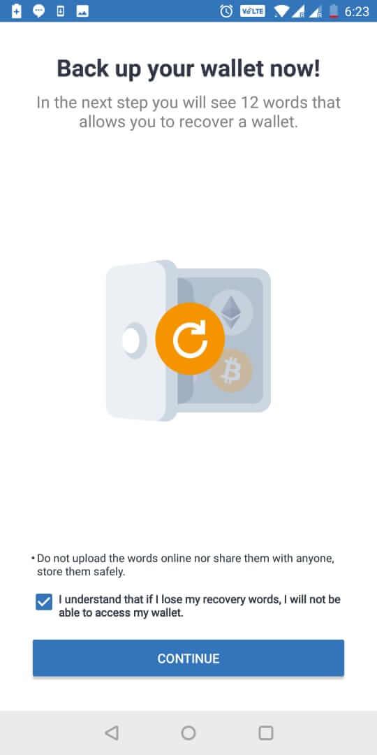 backup ví trust của bạn - hướng dẫn sử dụng Trust Wallet