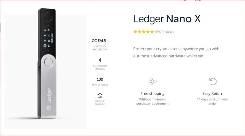 Leger Nano X - Top 5 ví lạnh tốt nhất